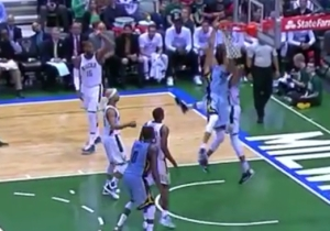 Giannis Antetokounmpo Threw The Ball And Ryan Hollins To The Floor With This Devastating Block