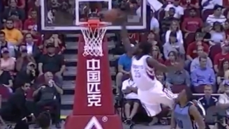 Montrezl Harrell Literally Leapt Over A Defender To Slam Down An Alley-Oop
