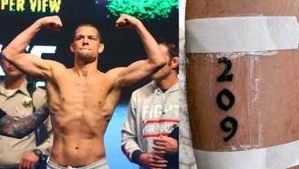UFC Announcer Jon Anik Follows Through With A Nate Diaz Inspired Tattoo After The UFC 196 Upset