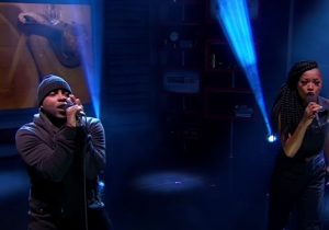 "Jon Connor & Keke Palmer Performed ""Fresh Water For Flint"" On The Nightly Show"