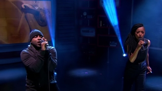 """Jon Connor & Keke Palmer Performed """"Fresh Water For Flint"""" On The Nightly Show"""