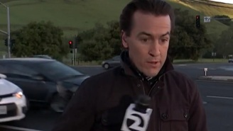 This Reporter Was Almost Taken Out By A Car Crash On Live TV