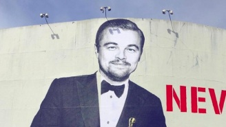 This Leonardo DiCaprio Street Art Puts A Cherry On Top Of His Oscar Win