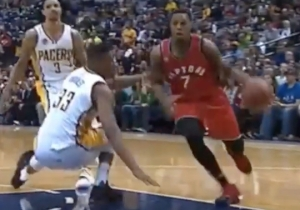 Kyle Lowry Welcomes Myles Turner To The NBA With A Crunch-Time Crossover