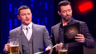Hugh Jackman And Luke Evans Are The Dueling Gastons Of Your 'Beauty And The Beast' Dreams
