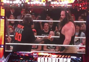Watch What Happened When WWE Raw Went Off The Air And A Pizza Got Involved
