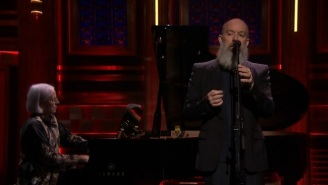 Michael Stipe Took On David Bowie's 'The Man Who Sold The World' On 'The Tonight Show'