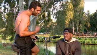 Nate Robinson's Interview Is Interrupted By A Shirtless, Trash-Talking Bicyclist