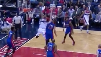 Nene Showed Off Vintage Burst On This Soaring Dunk Past Aron Baynes
