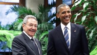 Presidents Obama And Raul Castro Meet In Cuba Ahead Of Groundbreaking Talks