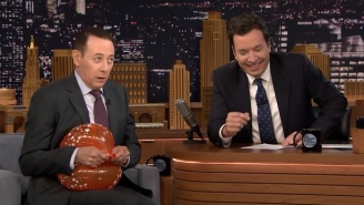 Paul Reubens Played 'Name That Tune' With A Balloon On 'The Tonight Show'