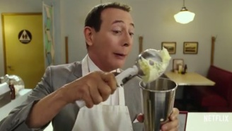 Let's Watch Pee-Wee Herman Make Joe Manganiello A Milkshake In 'Pee-Wee's Big Holiday'