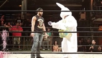 PJ Black Came Face-To-Face With His Bunny Past During Lucha Underground's Easter Celebration