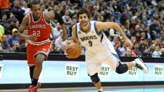 The 'Wolves Reportedly Tried To Swap Ricky Rubio And A First-Round Pick For Khris Middleton