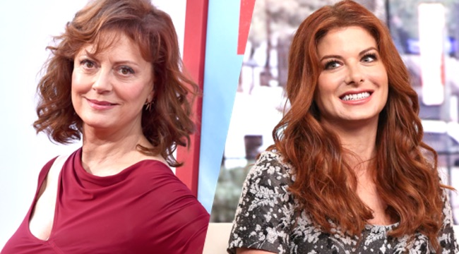 "Debra Messing Visits ""FOX & Friends"""