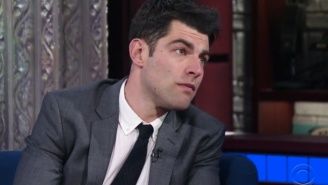 Here's Max Greenfield In Character As 'Schmidt' Impersonating John Travolta Doing Robert Shapiro