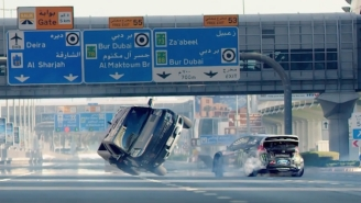 The Streets Of Dubai Were Closed For The Most Insane Stunt-Car Driving You've Ever Seen