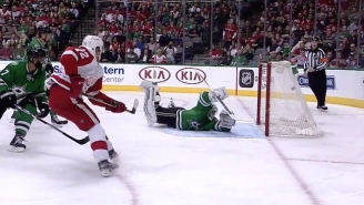 A Red Wings Rookie Left A Stars Goaltender Completely Helpless With This Great Goal