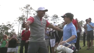 Watch A Little Kid Hit A Hole-In-One While Playing With Tiger Woods