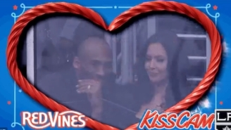 Everyone Loves The Kiss Cam, Including Kobe Bryant And His Wife