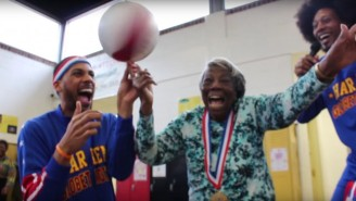 A 107-Year-Old Woman Celebrated Her Birthday By Hanging Out With The Harlem Globetrotters