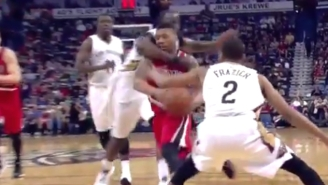 Kendrick Perkins Was Ejected For This Clothesline On Damian Lillard