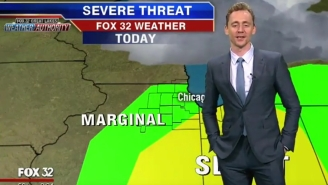 Tom Hiddleston Blamed Thor A Lot While Doing The Weather Report On Chicago Local News