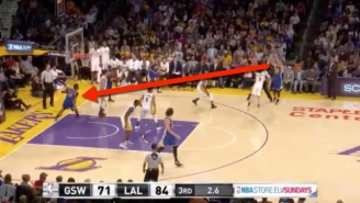 Steph Curry's Air Ball To End The Third Quarter Actually Worked Out Quite Well