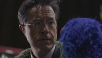 Spike Jonze Filmed A Special 'Late Show' Opener For Stephen Colbert Starring Grover From 'Sesame Street'
