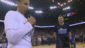 Steph Curry Presented David Lee His Championship Ring In A Classy Pre-Game Ceremony