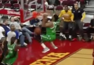 D-League Dunk Master DJ Stephens Almost Kissed The Rim On This Alley-Oop Jam