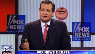 Ted Cruz Either Just Swallowed His Own Tooth Or A Meaty Booger At The Fox News Debate