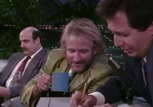 """The saddest clip to watch today: Robin Williams with Garry Shandling on """"Larry Sanders"""""""