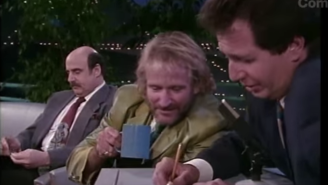 "The saddest clip to watch today: Robin Williams with Garry Shandling on ""Larry Sanders"""