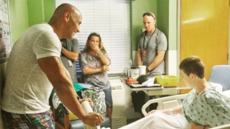 The Rock Put 'Baywatch' Shooting On Hold To Visit Some Hospitalized Kids