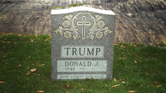 A Donald Trump Tombstone Mysteriously Popped Up In Central Park