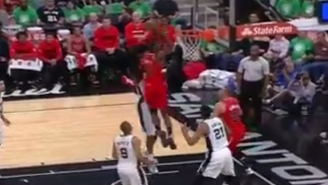Noah Vonleh Soars In From Nowhere For A Massive Putback Slam