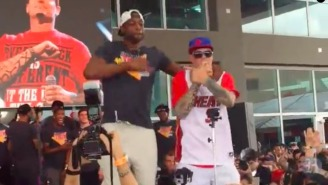 Dwyane Wade Couldn't Help But Dance With Vanilla Ice On Stage During 'Ice Ice Baby'