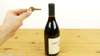 Every Wino Needs This Life Hack On How To Open A Bottle Of Wine With A Key