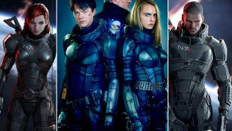 Cara Delevingne is wearing some awesome Mass Effect cosplay in this Valerian photo!