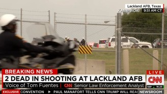 Sheriffs Respond To An Active Shooter At Lackland Air Force Base In San Antonio