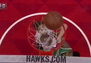 Kent Bazemore's Transition Triple Spun Around The Rim Forever Before Finally Falling Through