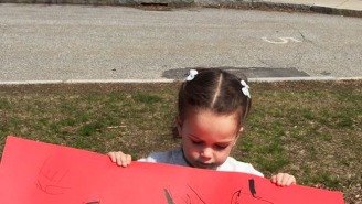 This Little Girl Made The Most Adorable Yet Confusing Sign To Cheer On Boston Marathon Runners