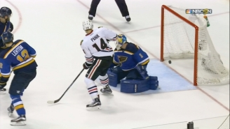 The Blackhawks Were Eliminated After A Potential Game-Tying Goal Bounced Off Both Posts