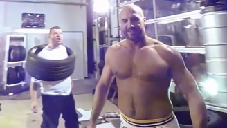 Watch WWE's Cesaro Beat Up Unruly German Tire-Shop Workers In This Bizarre Commercial