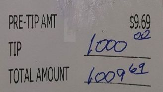 This Amazing 10,000% Tip Is A Reminder That There's Good In The World