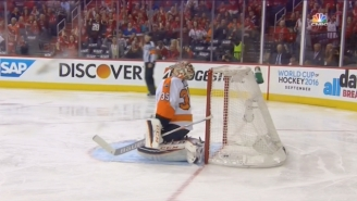 Watch Flyers Goalie Steve Mason Give Up One Of The Worst Goals You'll Ever See