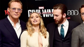 The Internet Catches Chris Evans Ogling Elizabeth Olsen With A Perfect Meme