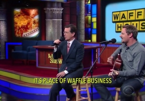 Stephen Colbert And Sturgill Simpson Wrote A Country Song In Honor Of Waffle House