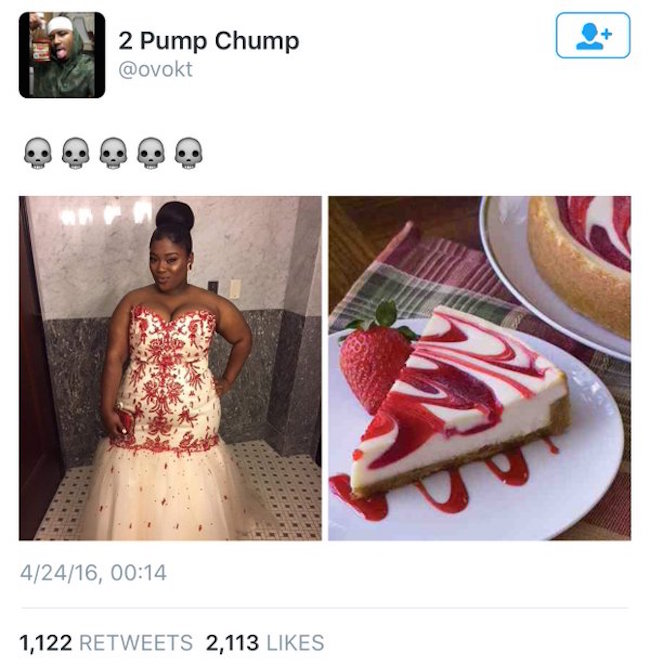 compare yourself to cheesecake